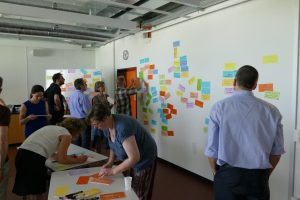 participants write on post-it notes