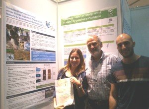 NEOH fellow Dr Marilena Filippitzi  with her poster and prize